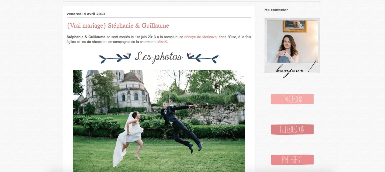 """Les Moineaux De La Mariée publication sur le site """"les moineaux de la mariée"""" - karine"""